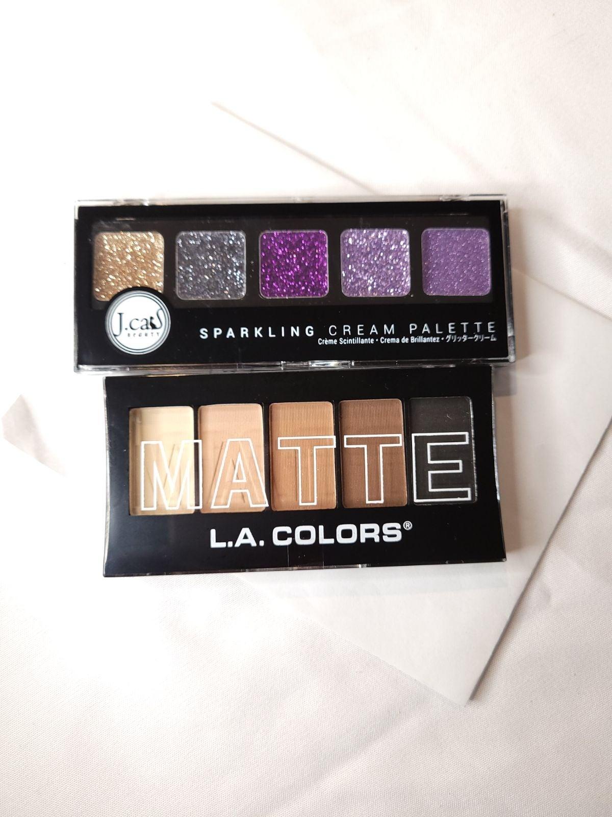 Nude Matte & Purple Glitter Eyeshadow