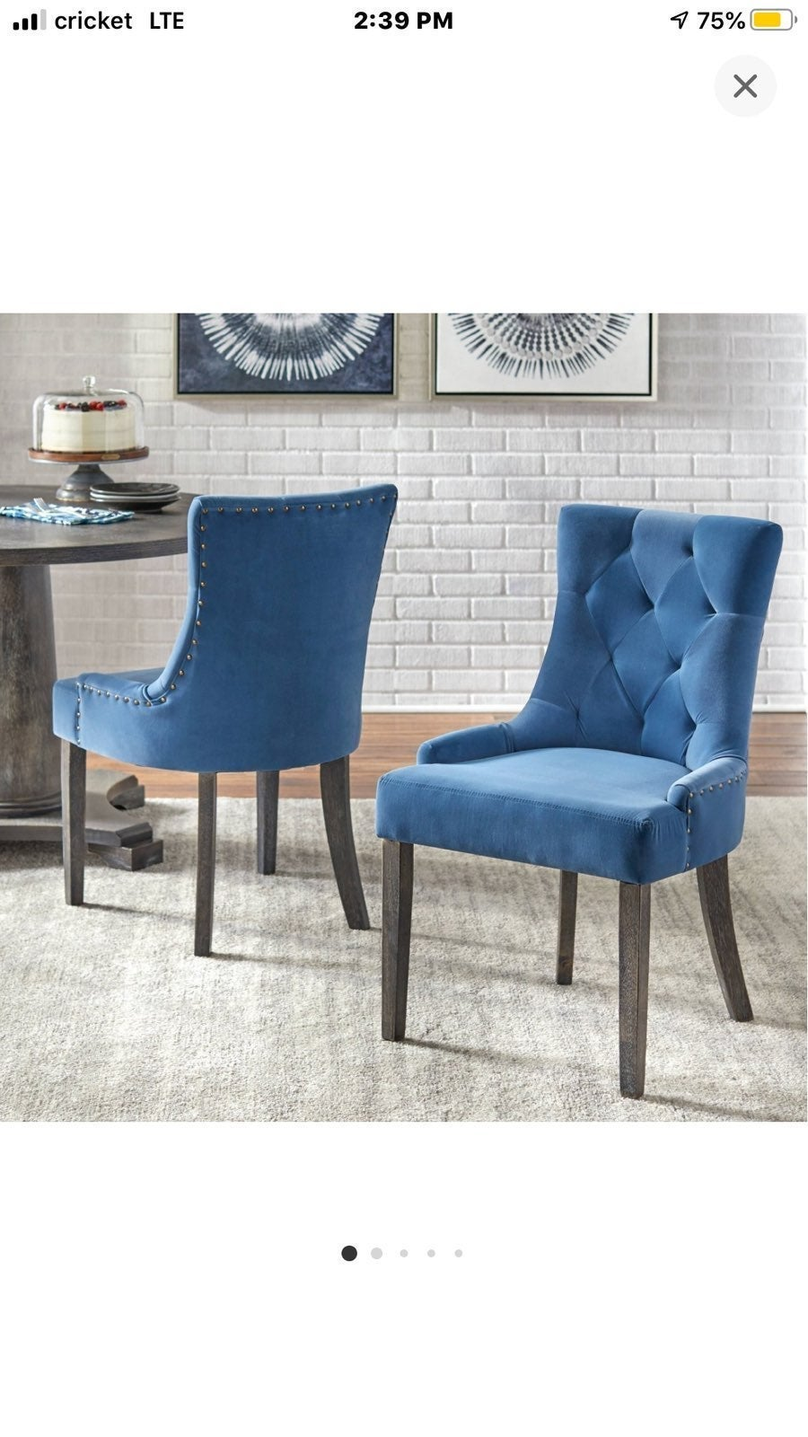 2 ariana parson dining chairs angelo:HOM