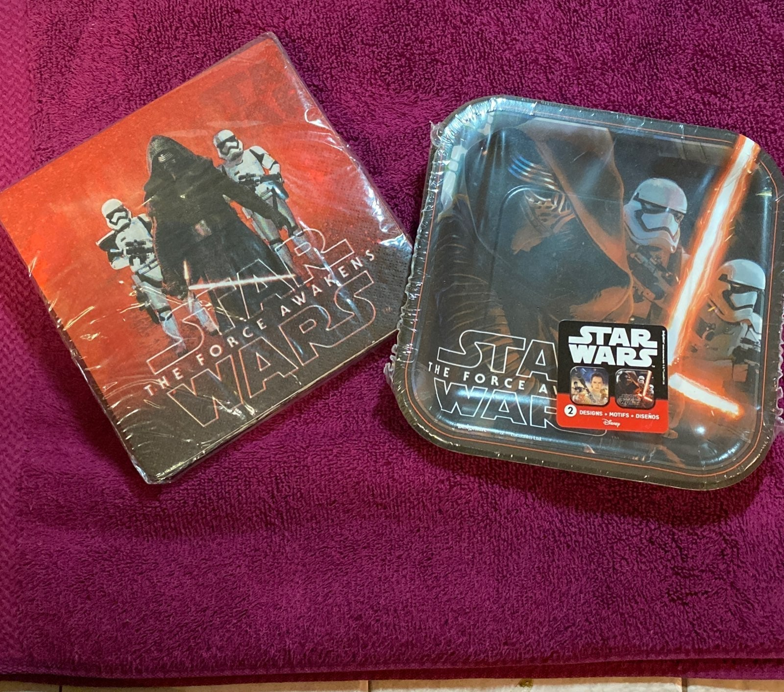 Star Wars Party Napkins and Paper Plate