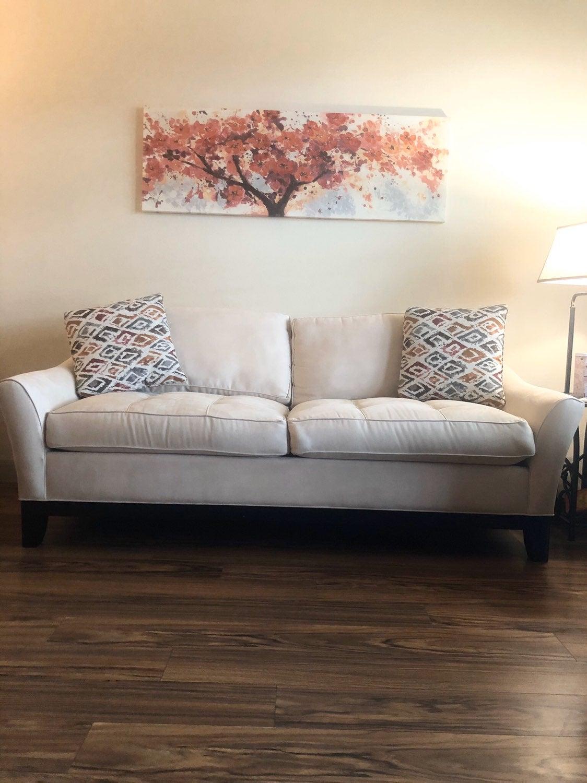 Cindy crawford vanilla sofa & chair