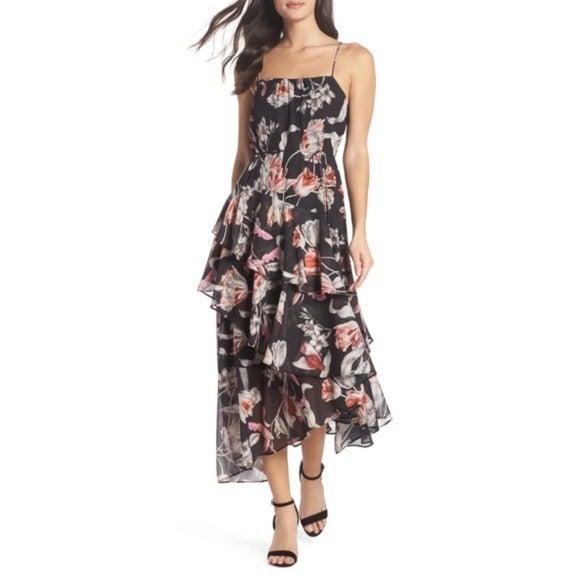 Cooper St Harlow Floral Midi Dress Sz 6