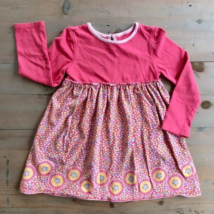 LL Bean Pink Dress Dot Pattern