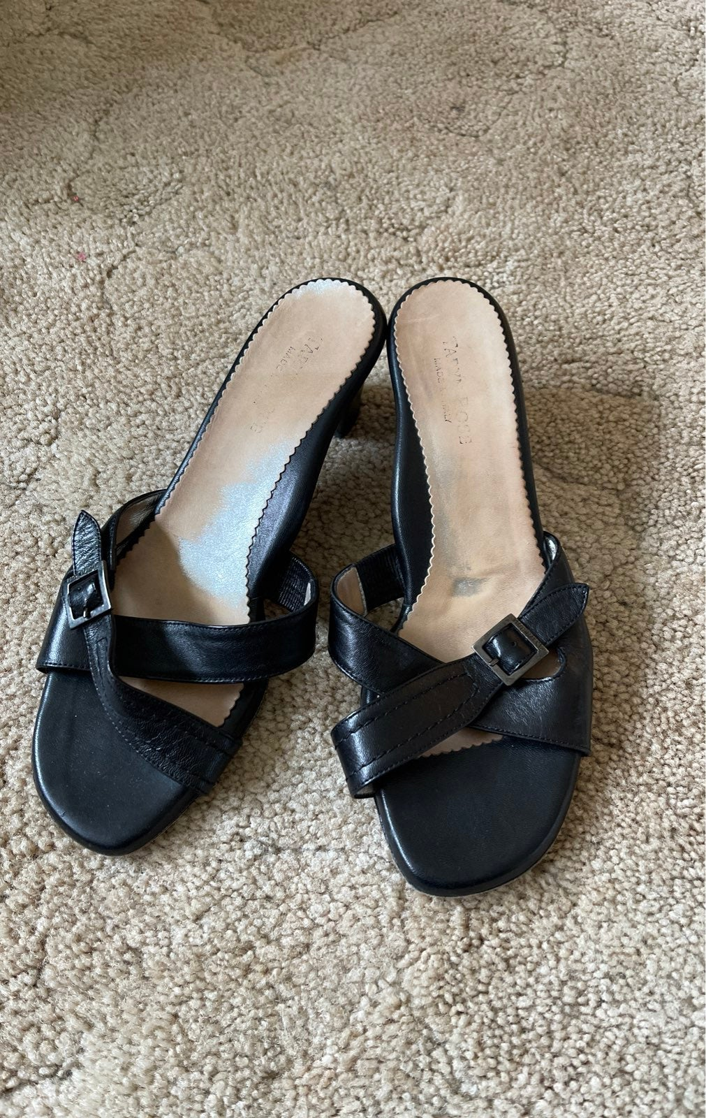 Sandals Taryn Rose 38.5 black leather
