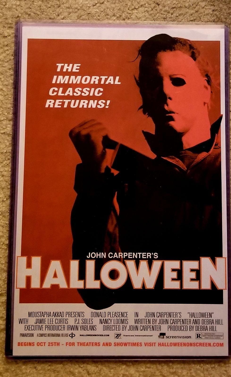 Michael Myers Orange vs2 11x17 Poster