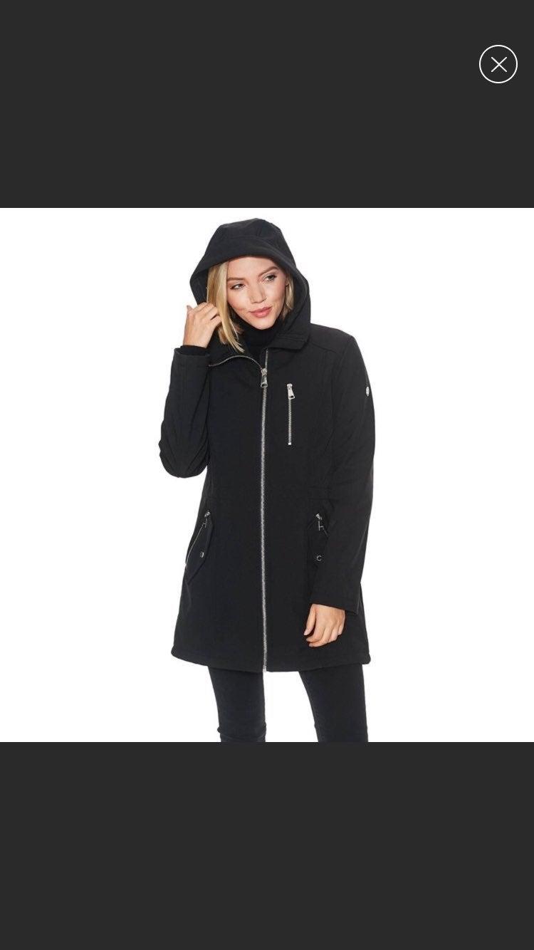 Calvin Klein Hooded Zip Up Coat S
