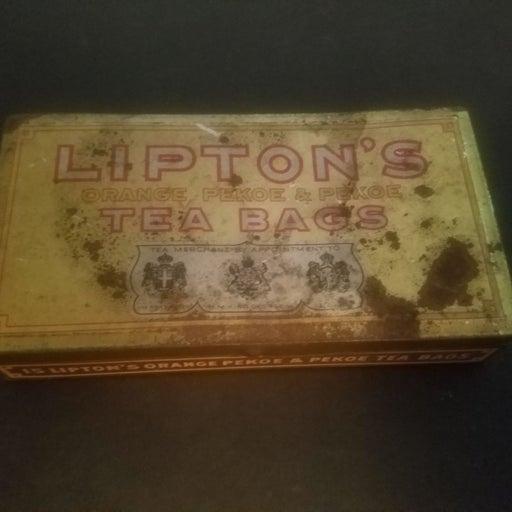 Lipton tea bag antique box. 1920s.