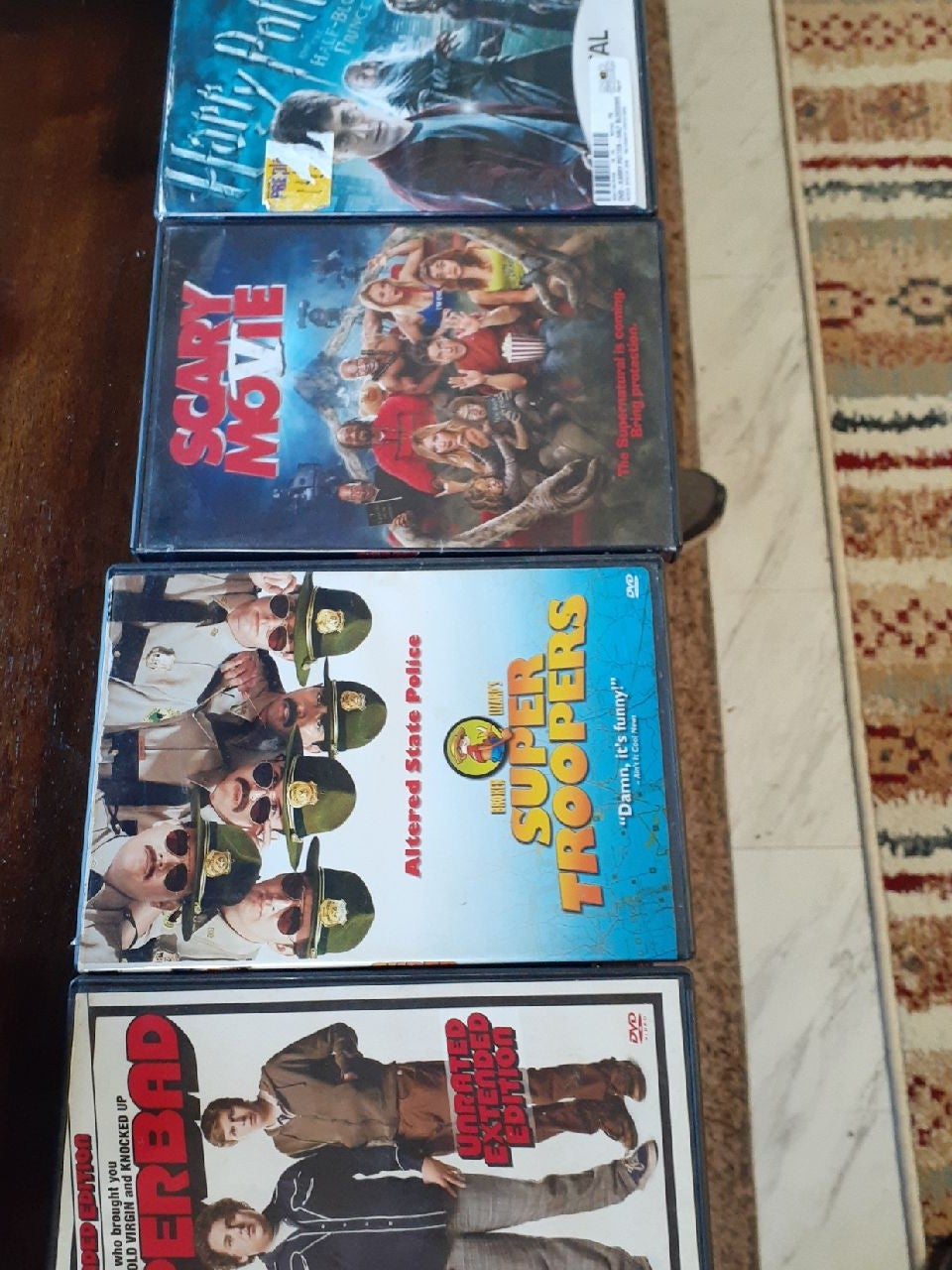 Superbad, Super Troopers and two other m
