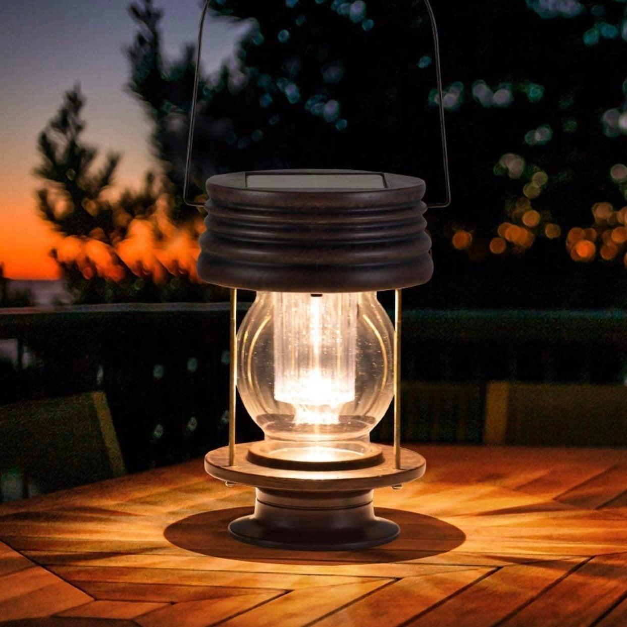 "8.3"" Solar Powered Waterproof Lantern"
