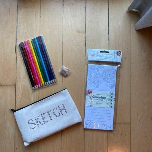 """Sketch"" Drawing Set abd Coloring Pad"