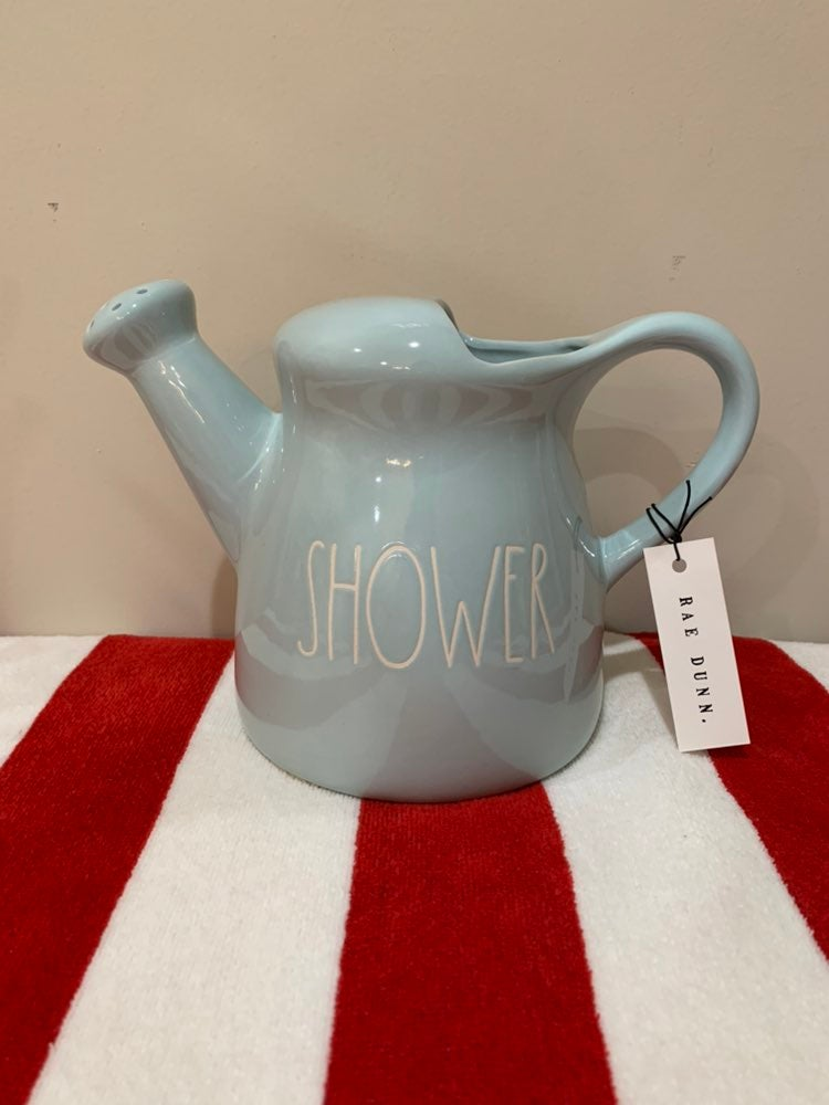 Rae Dunn Showers ceramic water can