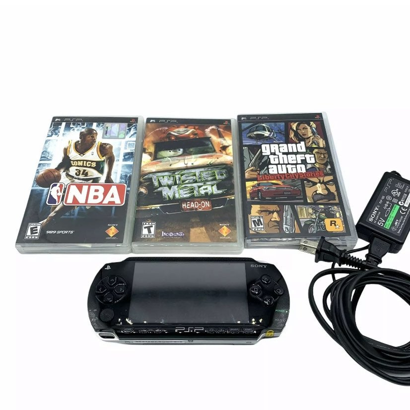 Sony Psp 1001 console 3 games tested