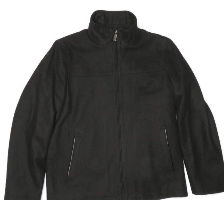 Perry Ellis Mens Wool Blend Zip Jacket