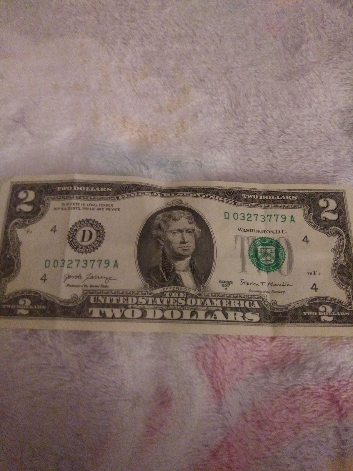 A $2 bill
