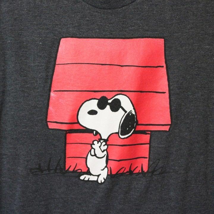 Peanuts Snoopy Tee Shirt Black Size XL