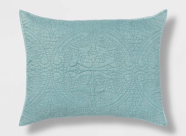 Set of TWO Teal Pillow Shams (Dusty Jade