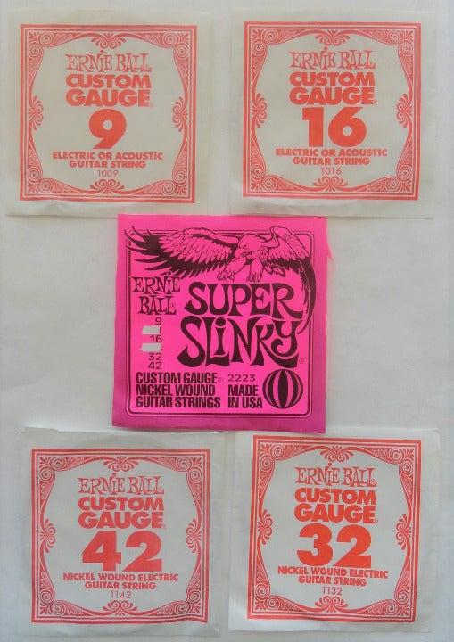 Ernie Electric Slinky Guitar Strings 4pc