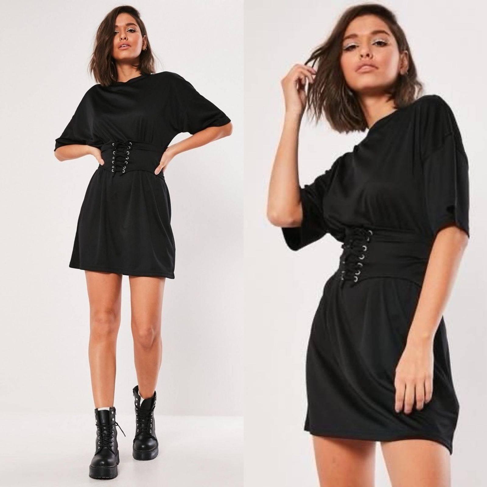 NWT MISSGUIDED Oversized black Tee Dress