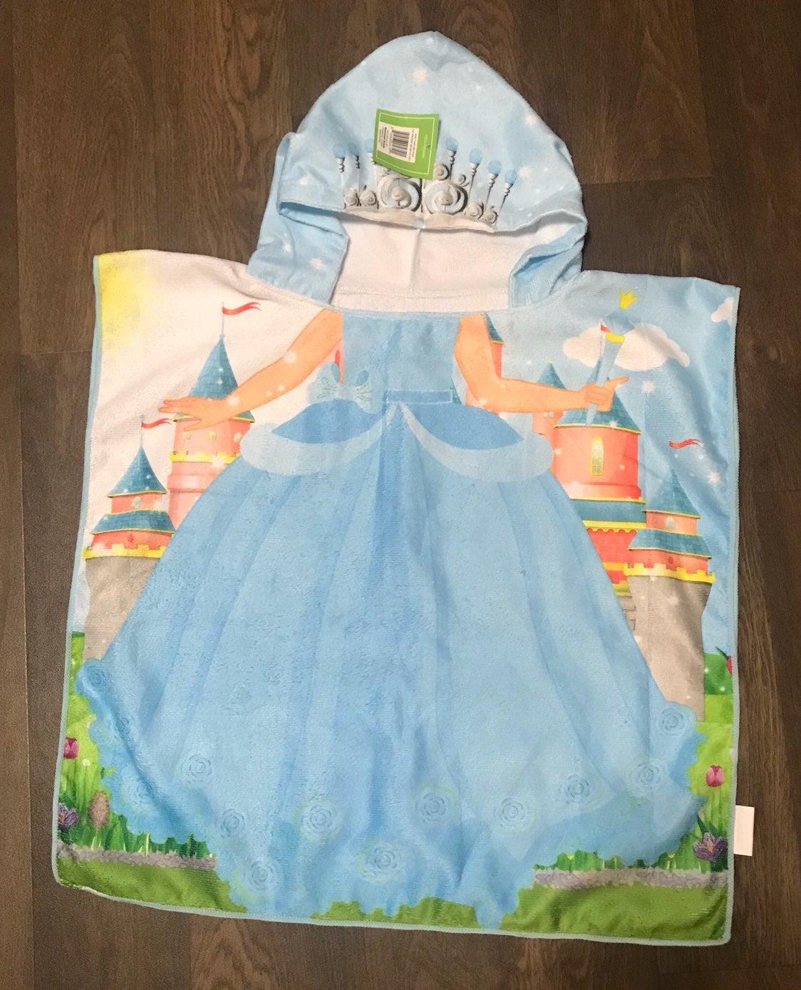 Princess Beach Towel Poncho With Hood