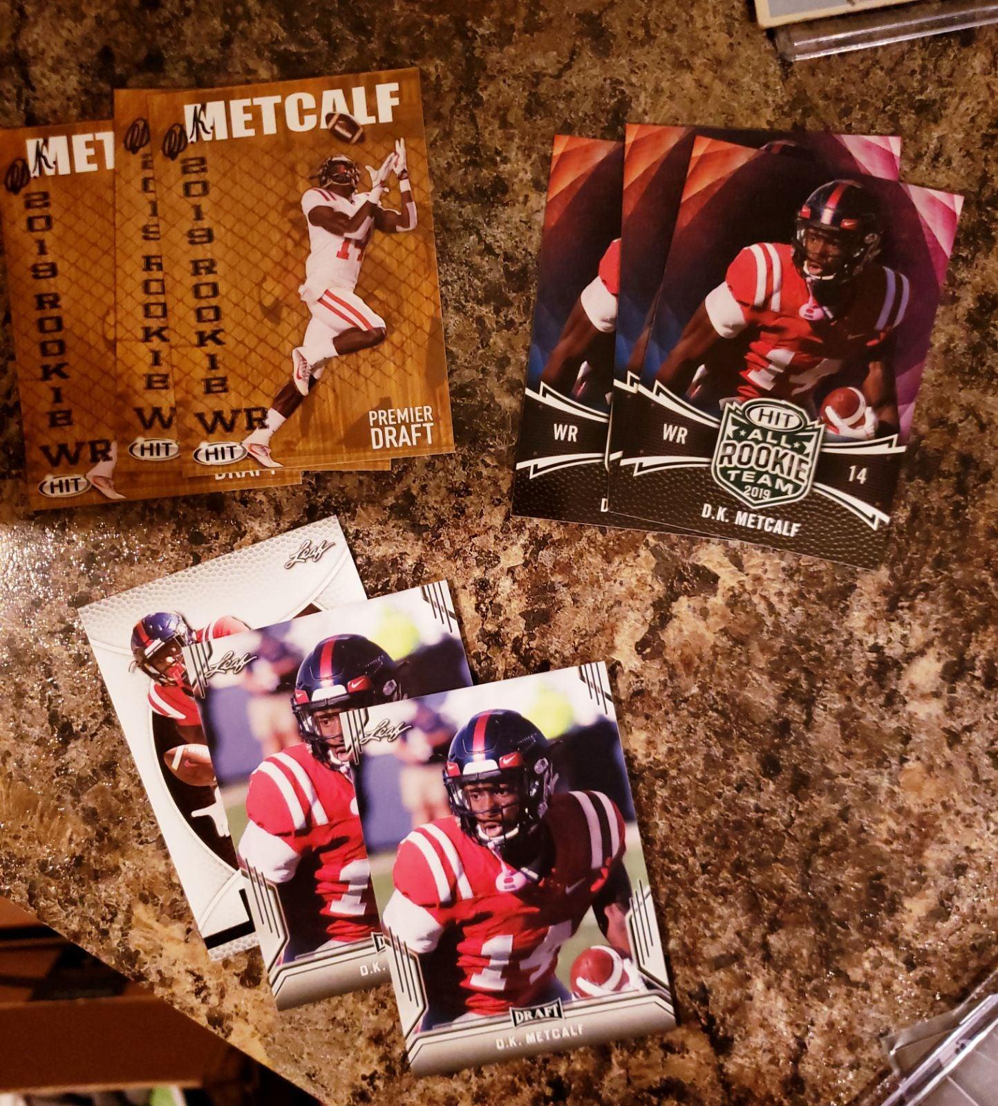 DK Metcalf Rookie 9 Card Lot Seahawks RC