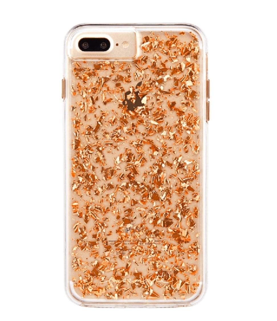 24k Rose Gold Flake Case-Mate Case iPhon