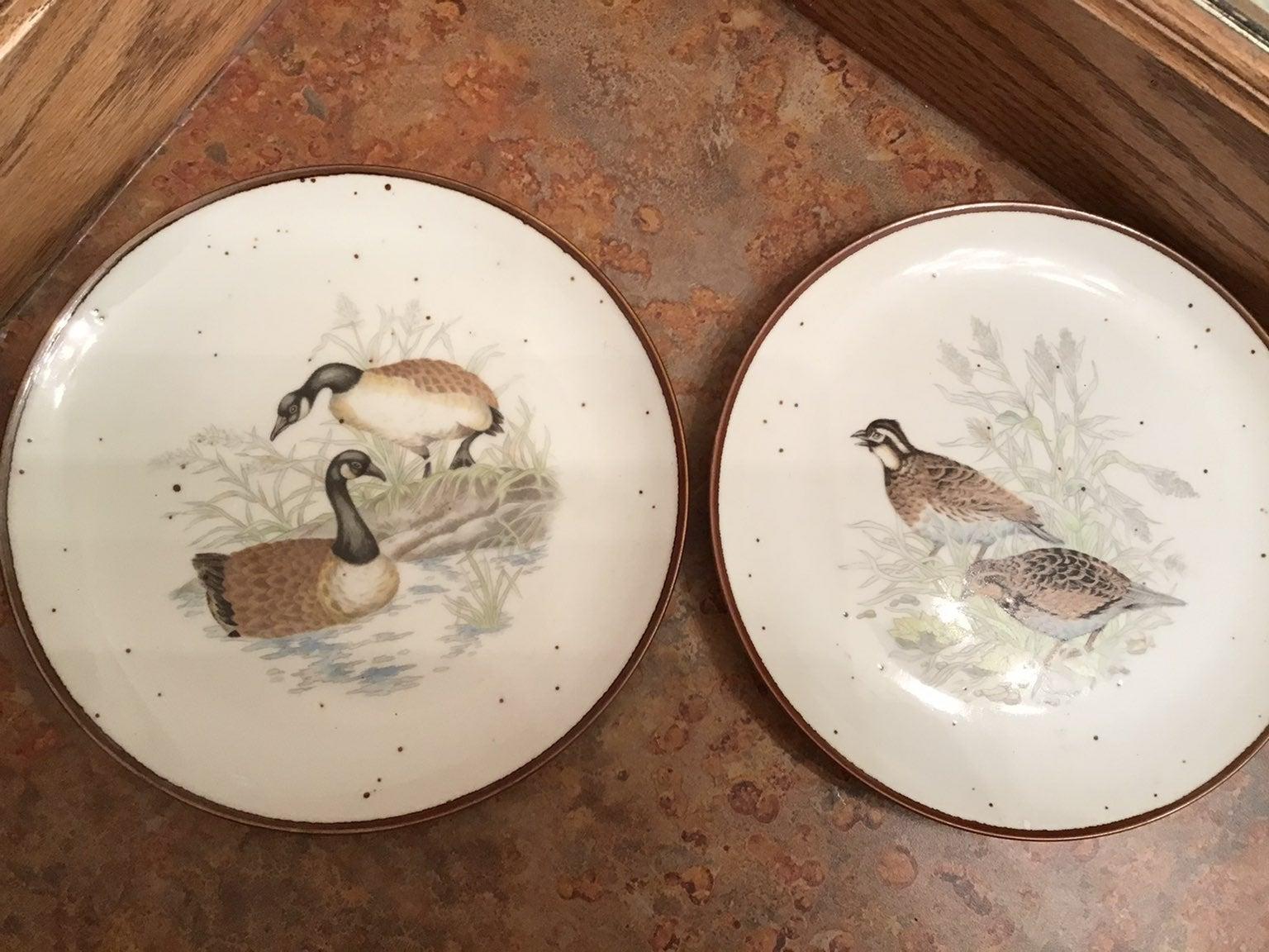 Vintage Bird Japan plates