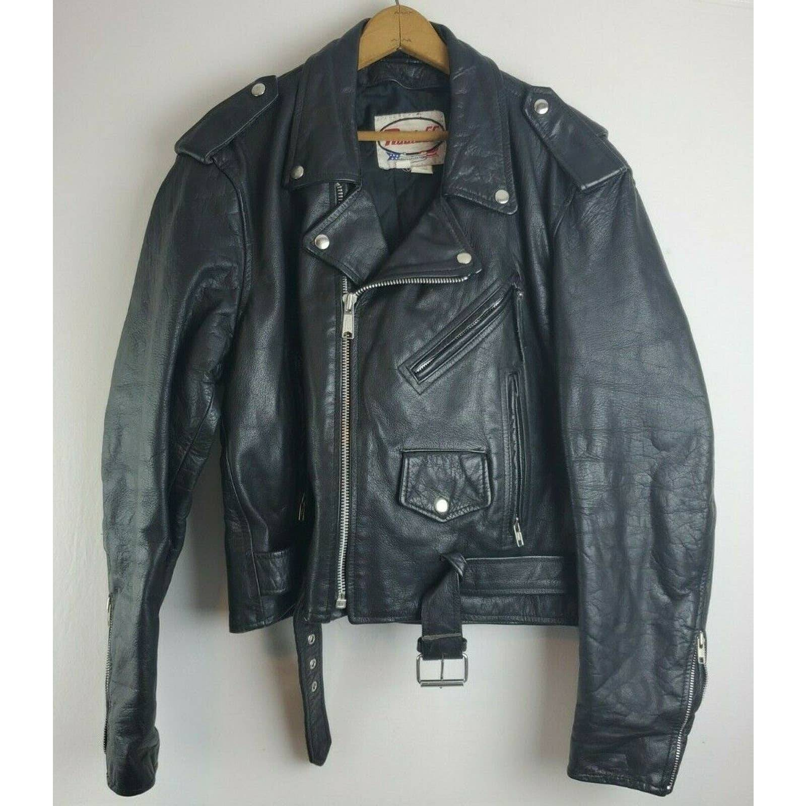 Route 66 leather Motorcycle Jacket