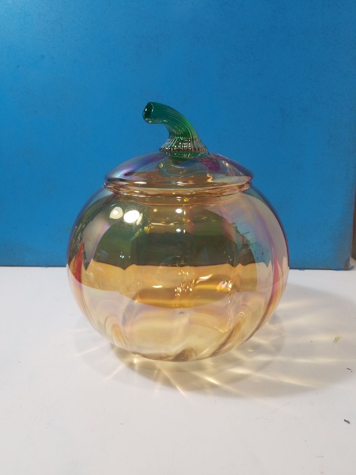 Orange carnival glass princess house coo