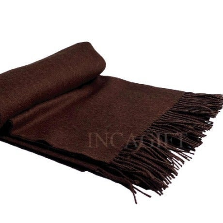 Chocolate 100% Baby Alpaca Throw Blanket