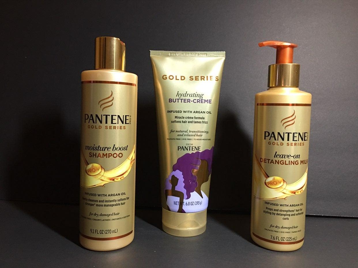 Lot of 3 Pantene Gold Series w/Argan Oil