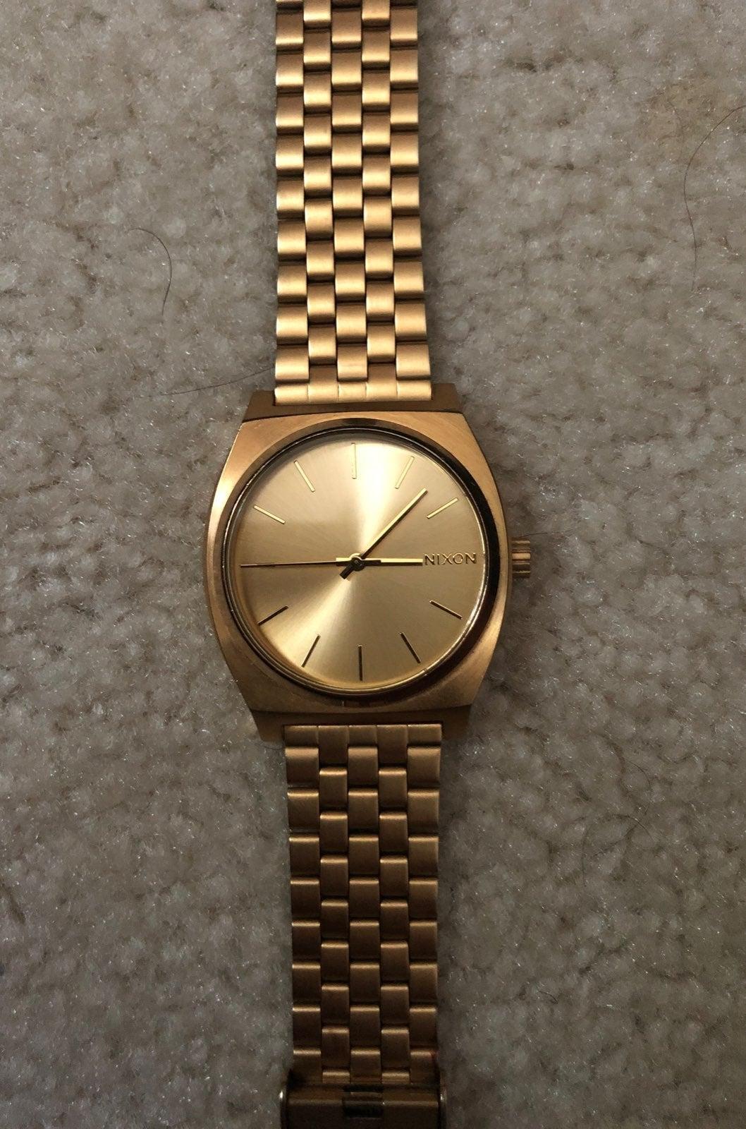 Nixon Time Teller Gold Watch