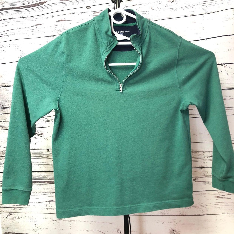 Saddlebred Large Pullover 1/4 zip Green