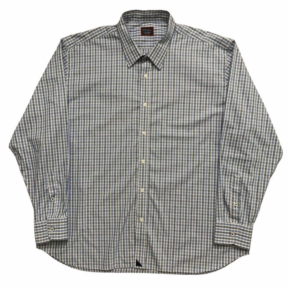 Untuckit Dress Shirt Plaid Blue 3XL