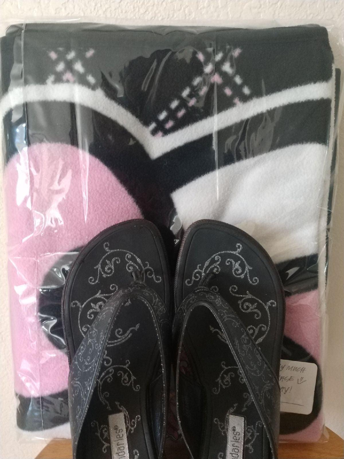 Reserved for Kris-Sandals & Blanket