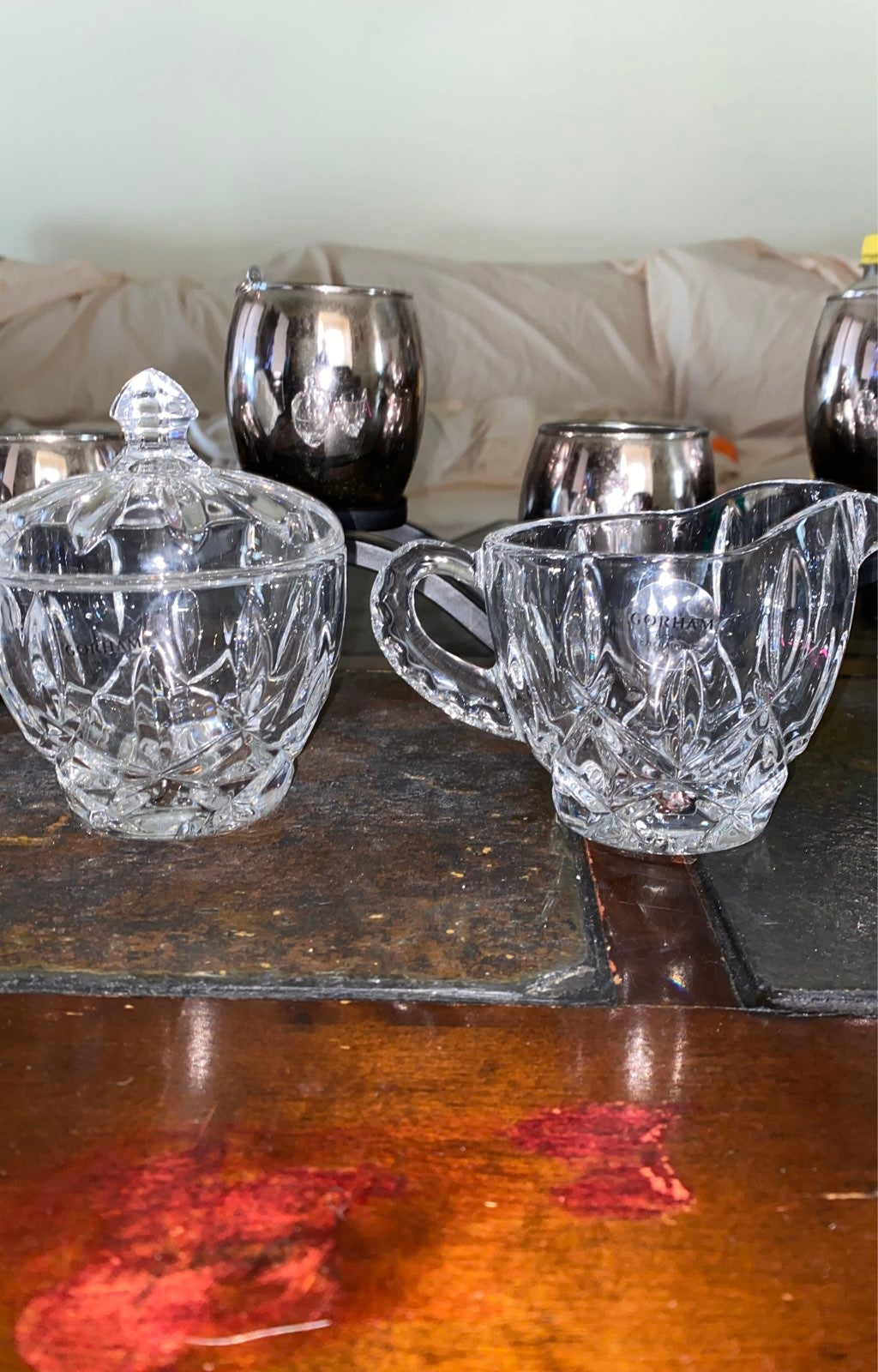 Gorham sugar and creamer set
