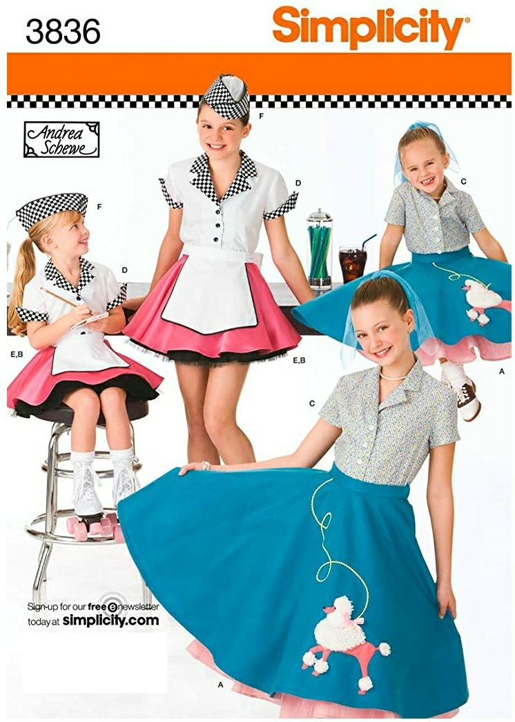 Simplicity Sewing Pattern 3836 Child and