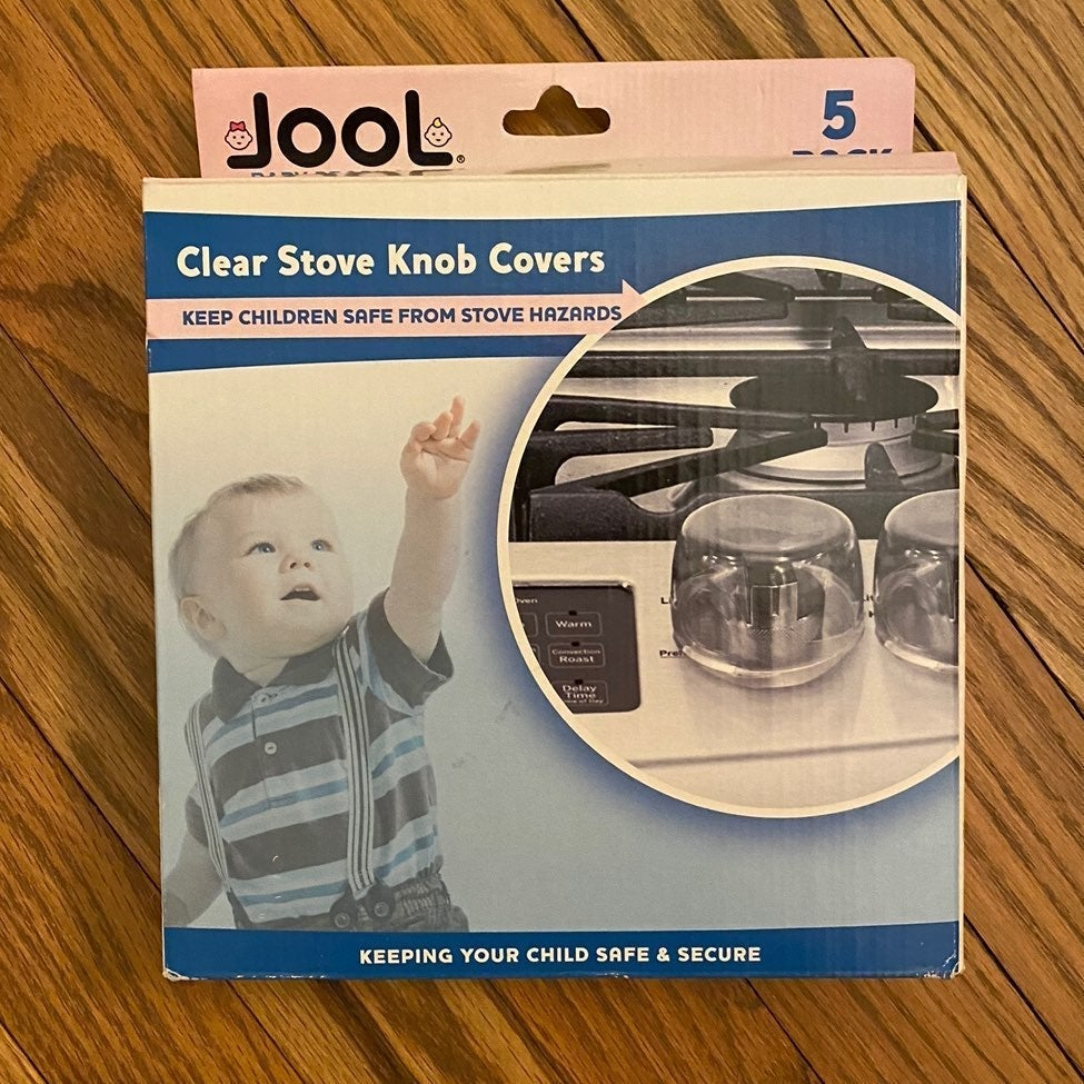 Clear Stove Childproof Knob Covers