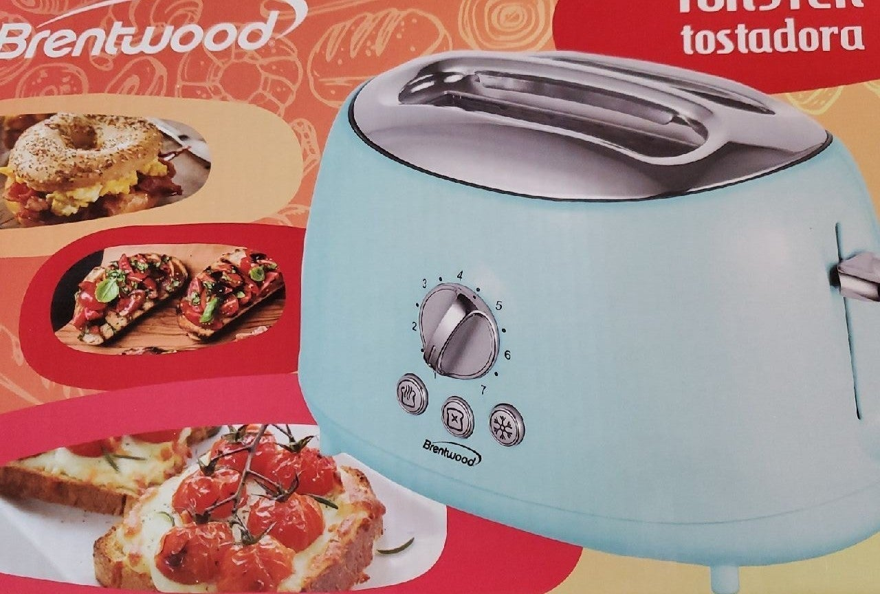 Brentwood 2 slot toaster teal new