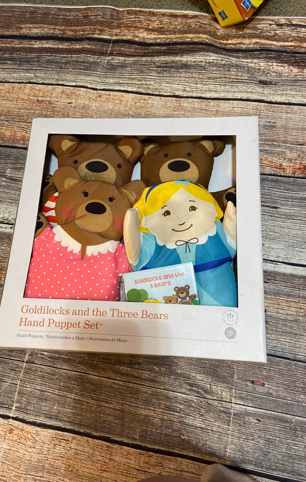 Goldilocks and the three bears puppet