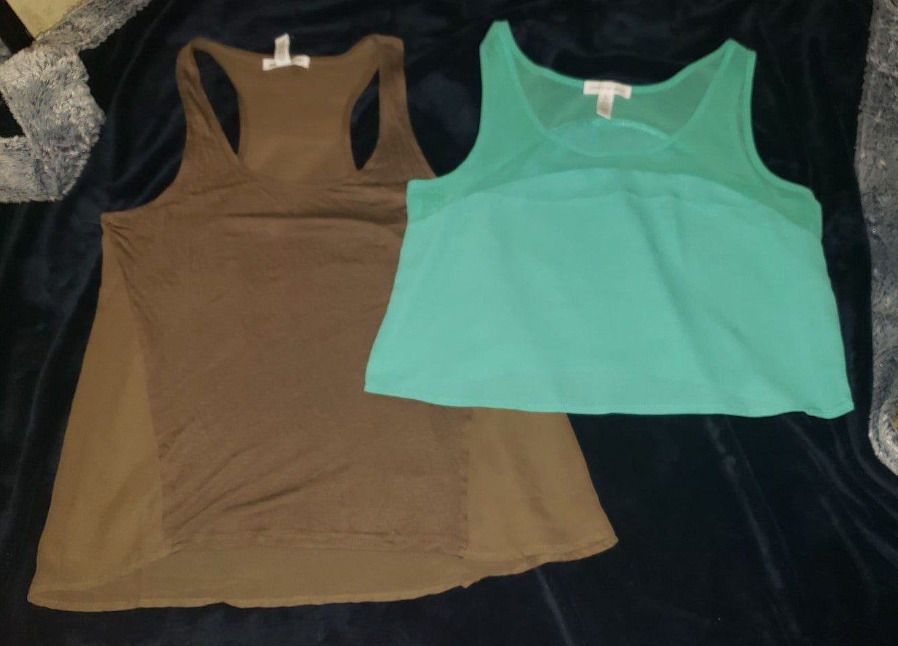 2 NWOT Ambiance Apparel Tops size S