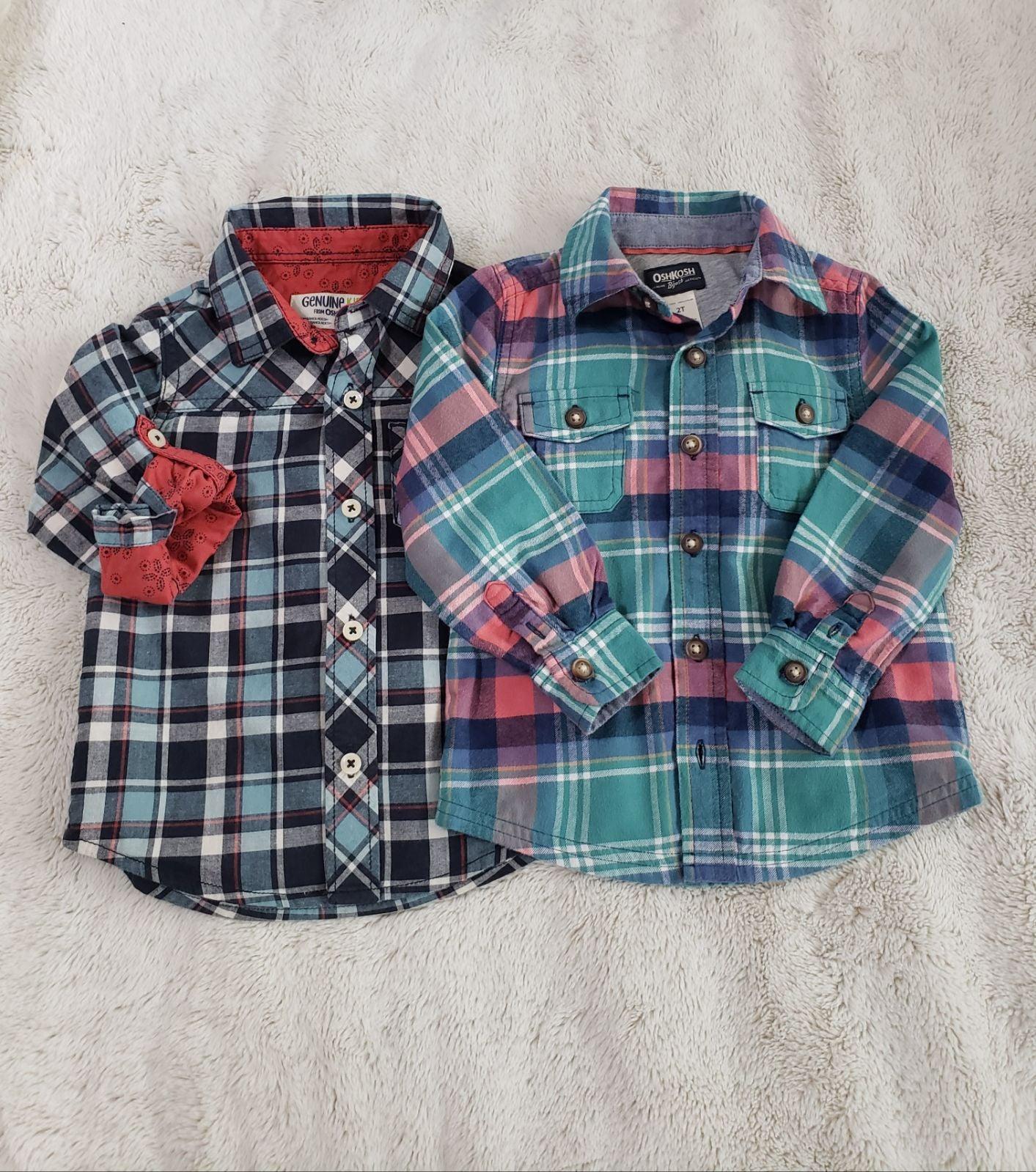 Oshkosh toddler button down shirts