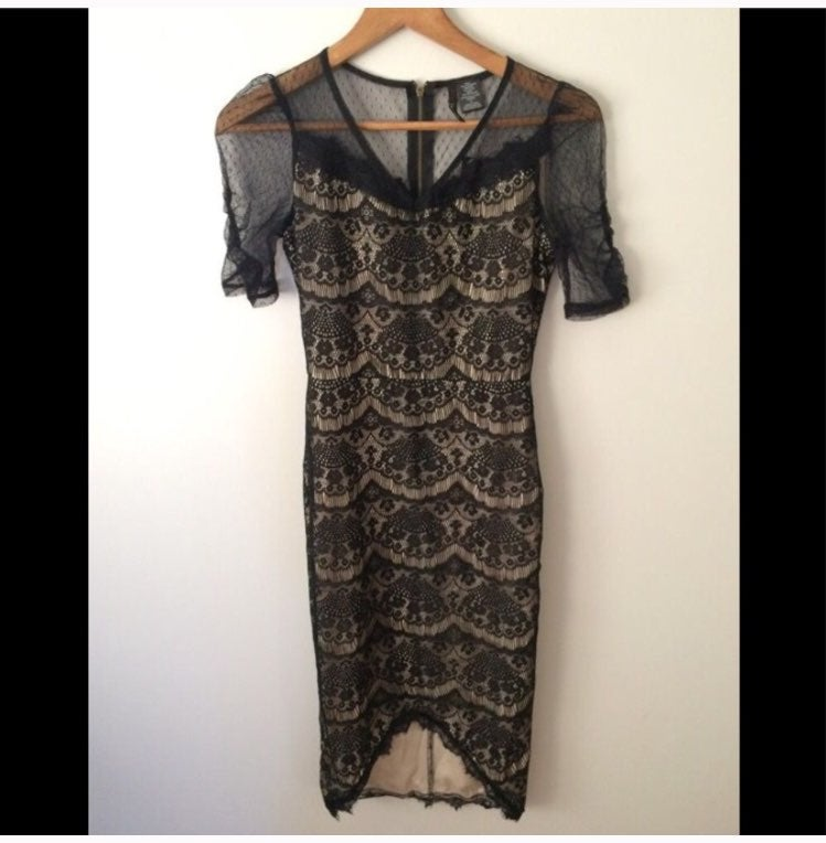 Nwt Fire Los Angeles Lace Bodycon Dress