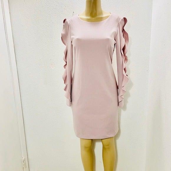 Donna Karan cold shoulder dress