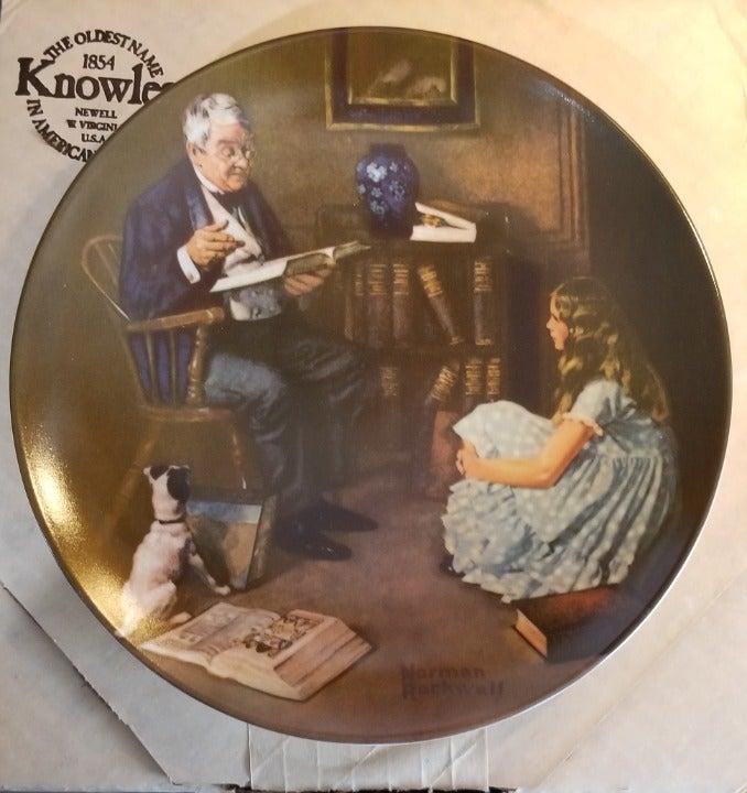 """Norman Rockwell """"The Storyteller"""" Plate"""