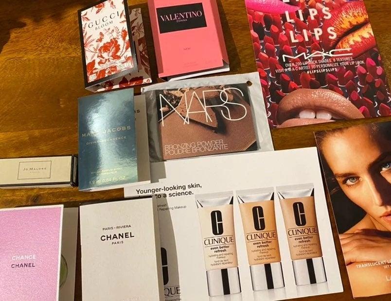 Lot of Perfume and makeup samples