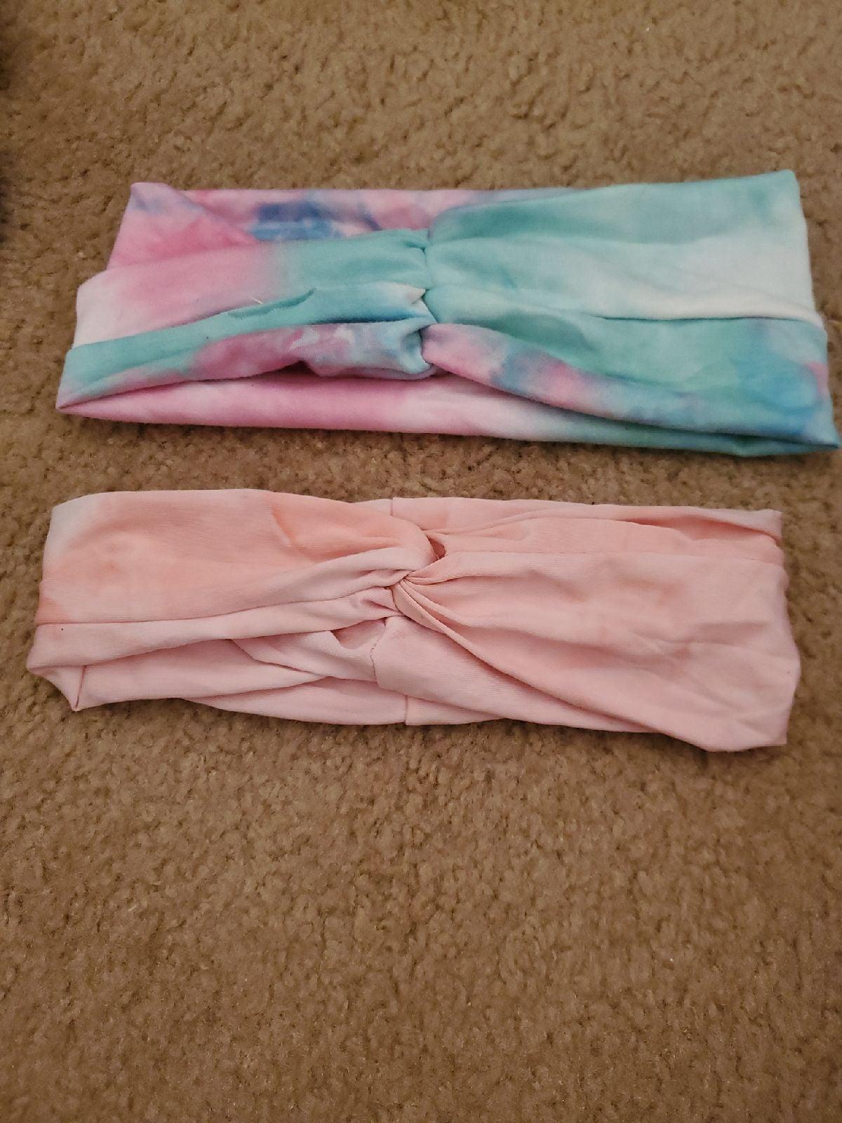 2 tie dye headbands