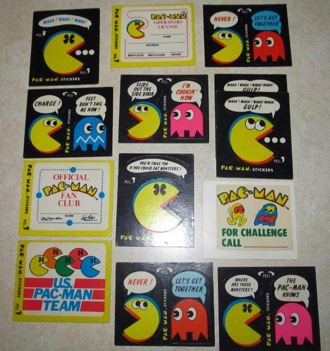 Fleer Pac-Man and Ms. Pac-Man Stickers