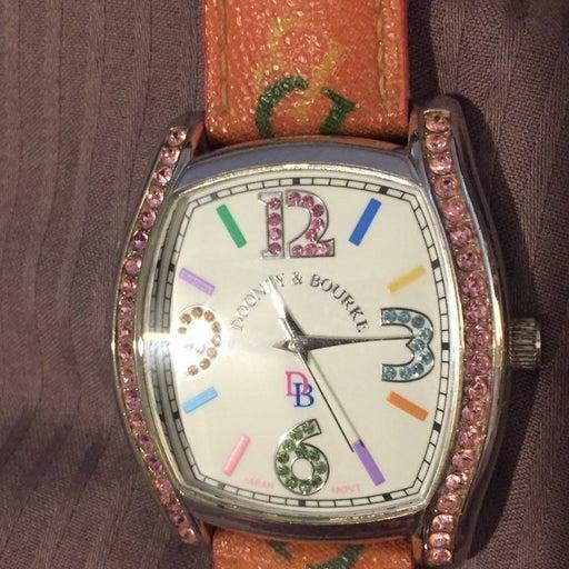 Dooney & Bourke pink leather watch
