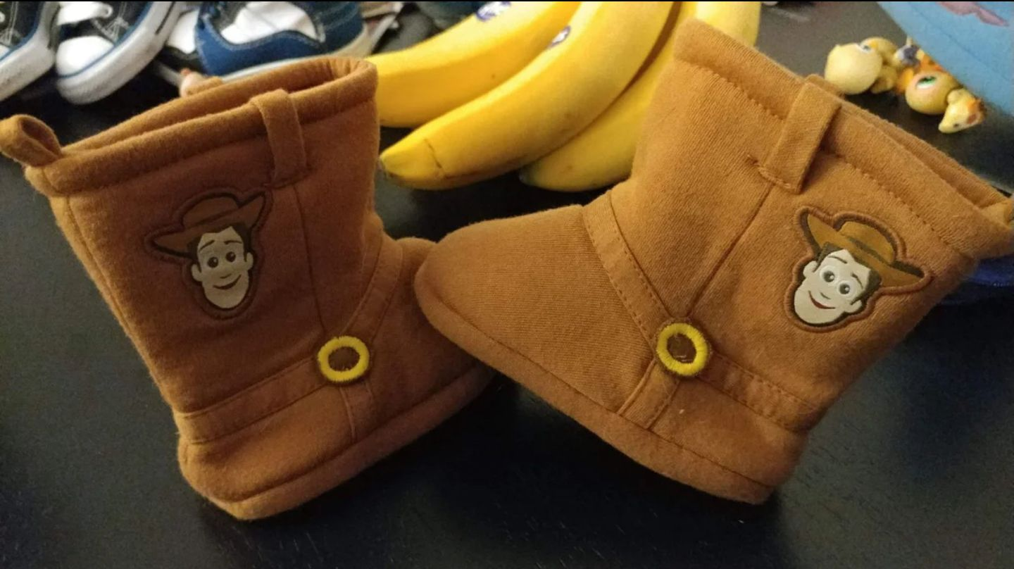 Toy Story Woody 12-18 Month Slippers