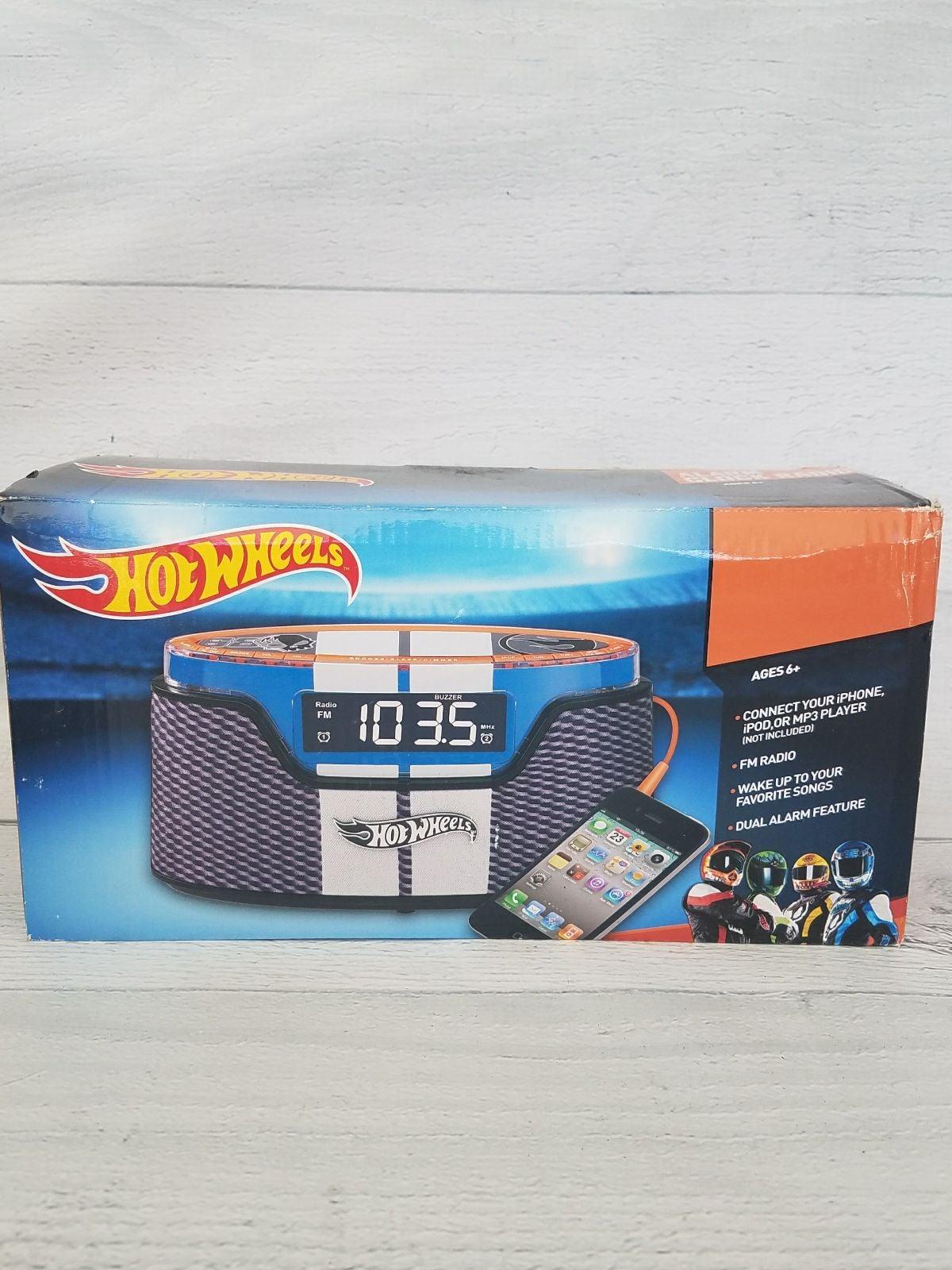 Hot Wheels Alarm Clock Radio