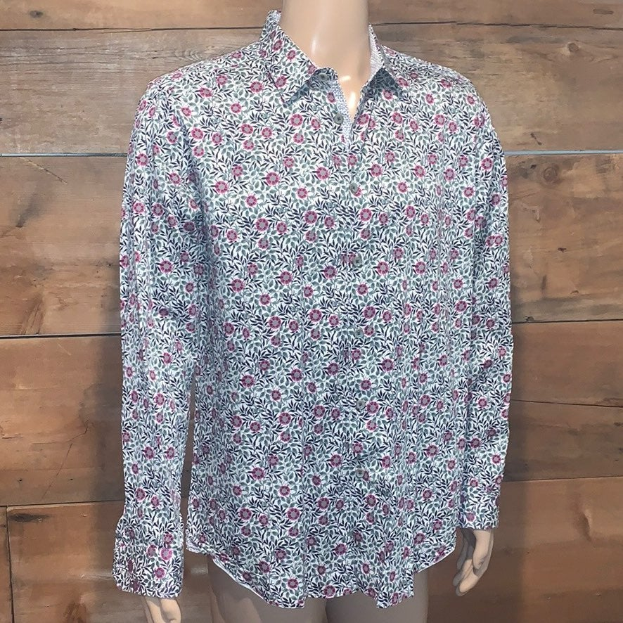 Ted Baker Mens Floral Dress Shirt Sz.6